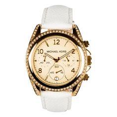 Michael Kors MK5460 -  The best watch for your best time.  #DesignerPoshWatches #ForHer #Gift #Watches #Watchcollection #UK #Classic_Watches #BestGifts #Trends_Watch #Watchoholic #Forwomens #Wristwatch #quartzwatch #watch #time #watchlover #watchaddict #watchoftheday #luxurylifestyle #watchesforwomen #MichaelKors #MK5460 #MK Cool Watches, Rolex Watches, Michael Kors Chronograph Watch, Stainless Steel Case, Quartz Watch, Luxury Lifestyle, White Leather, Best Gifts, Trends