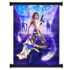 32 x 42 Inches Final Fantasy VII 7 Advent Children Game Aeris Fabric Wall Scroll Poster