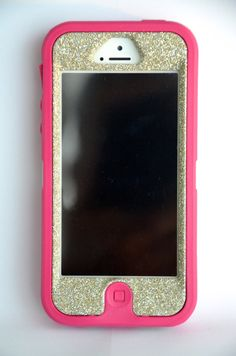 OtterBox Defender Series Case iPhone 5 Glitter Cute Sparkly Bling Defender Series Custom Case Pink / White Gold