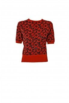 Flowers Pullover Red | Bettie Page Clothing