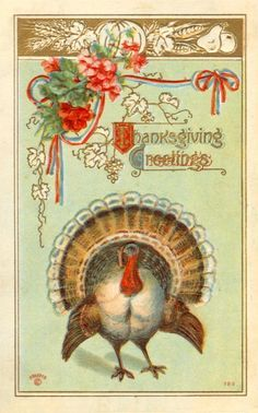 Image result for vintage thanksgiving cards with ethnic twist