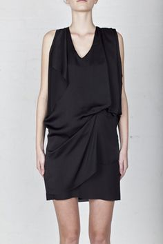 Acne sleeveless draped dress