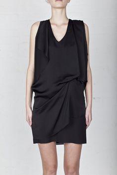 Acne sleeveless draped dress