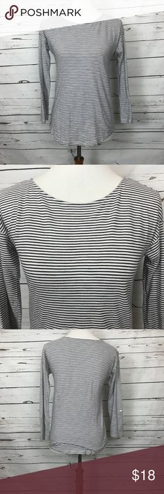 """Loft 3/4 Sleeve Tee Size Small Nautical design. Soft material. Sleeves have optional button for cuff, see photo. No stains or flaws. See photo for fabric content and washing instructions. Bust 36"""", sleeve 17"""", length 23"""". LOFT Tops Tees - Long Sleeve"""