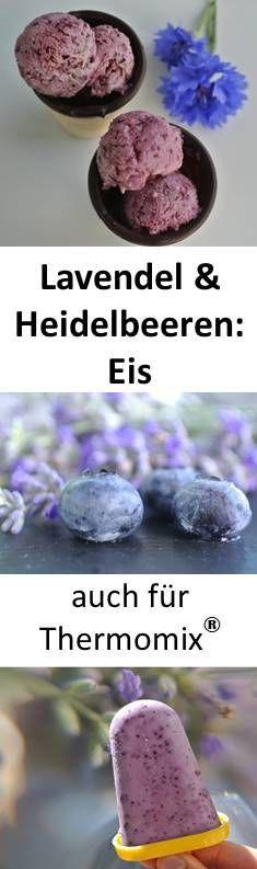 Heidelbeer-Eis mit Lavendel und Mascarpone (auch für Thermomix)