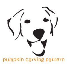 dog jack o lantern patterns Pumkin Carving Stencils, Pumpkin Carving Templates, Pumpkin Stencil, Pumpkin Carvings, Dog Halloween, Halloween Pumpkins, Halloween Crafts, Halloween Labels, Halloween Makeup