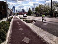 Indy's cultural trail is a walking path that cuts through the city with art installations. (c) GTH & Nathan DePetris