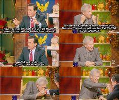 The Hobbit: Sir Ian McKellen on The Colbert Report.
