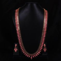 Ruby Haaram Mango Design - WJ0246 Bridal Jewellery Mala Sets