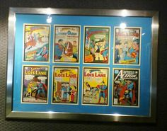 Frame those old comic books and display you collection, it makes for a great display and a conversation piece in a Den, or Rec. Room.