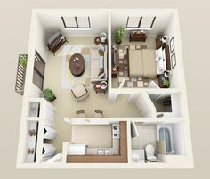 Stonebury floor plan for Heather Downs Apartments