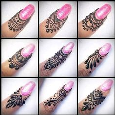 Beautiful Mehndi Design - Browse thousand of beautiful mehndi desings for your hands and feet. Here you will be find best mehndi design for every place and occastion. Quickly save your favorite Mehendi design images and pictures on the HappyShappy app. Finger Henna Designs, Mehndi Designs Book, Full Hand Mehndi Designs, Modern Mehndi Designs, Mehndi Designs For Beginners, Mehndi Design Pictures, Bridal Henna Designs, Mehndi Designs For Girls, Henna Designs Easy