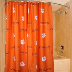 Clemson Tigers Ncaa Fabric Shower Curtain 72 Quot X72 Quot By