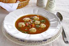 Ciorbă de perișoare de pui și dovlecei Bruschetta, Chana Masala, Food And Drink, Ethnic Recipes