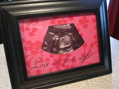 DIY Gift Ideas | Looking for the perfect baby shower gift? Make this ultrasound picture frame!