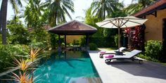 One-Bedroom Pool Villas are 990 square feet and have a private swimming pool. #Jetsetter
