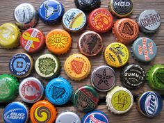 Gift For Dad  Man Cave Decor  Set of 10  Beer Bottle Cap Magnets by WhiteCitrus #craftbeer #dads #foodies