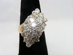 5.00 Carat Total Weight Diamond Cluster Ring. 10K. Asking - $7,495.00 #25240 - Mike's Fine Jewelry - 1-800-290-4478 - Paypal - Free U.S. Shipping! - Fine Jewelry