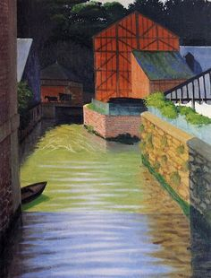 1922 Félix Edouard Vallotton (Swiss artist, 1865-1925) Part of the Town of Pont-Audemer