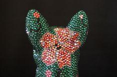 Edelweiss, Pink, Crystals, Handmade