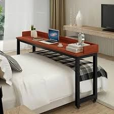 Over Bed Sliding Table Lets You Work And Eat In Bed Can Also Function As A Desk Overbed Table Bed Table Bed Desk