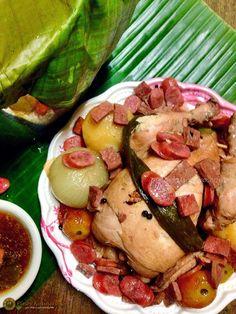 Kinulob na Manok http://www.pinoykusinero.com/2014/12/kinulob-na-manok-banana-leaf-covered-slow-cooked-chicken.html