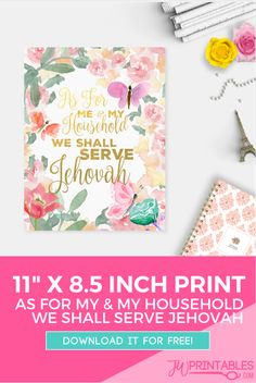 We Shall Serve Jehovah – Free Print! | JW Printables                                                                                                                                                     More