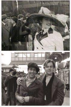 Leo and Kate on set of Titanic Titanic History, Rms Titanic, Kate Winslet, Titanic Behind The Scenes, Titanic Quotes, Titanic Movie Facts, Movie Stars, Movie Tv, Leo And Kate