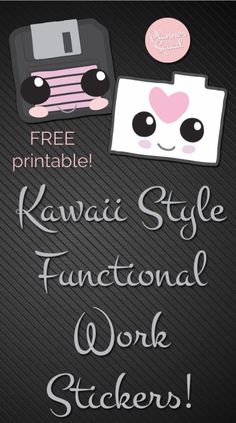 FREE Kawaii Functional Work Themed Stickers - Planner Squad Work Planner, Free Planner, Happy Planner, Planner Ideas, Passion Planner, Monthly Planner, Printable Planner Stickers, Journal Stickers, Free Printables
