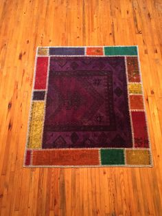 Patchwork Vintage Rug Turkish Handmade Carpet by RugToGo on Etsy