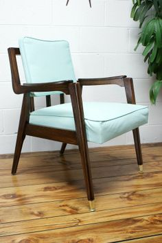 The 50s Danish Mid Century Aqua Blue Lounge Chair  ~ Apartment Therapy Classifieds