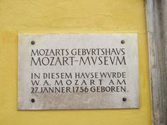 Mozart's house - Salzburg