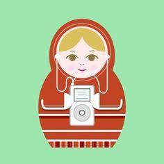 Print-Matryoshka (nesting doll)-Music. $20.00, via Etsy.
