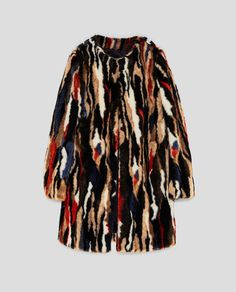 Image 8 of MULTICOLOURED FAUX FUR COAT from Zara