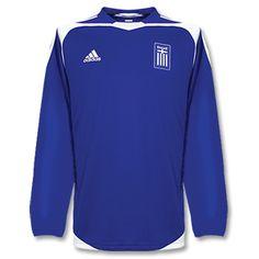 3eec3e005d1 Adidas 04-05 Greece Home L S shirt 04-05 Greece Home L
