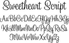 Script sweetheart writing cursive template