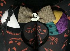 Nightmare Before Christmas/ Jack and Sally Inspired w/Oogie Boogie Bow #Disney…