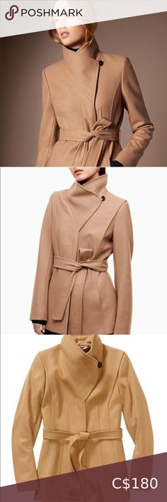 Le Chateau Funnel Camel Coat XS Le Chateau Funnel Camel coat  Size: XS  Brand New ✨ 2020 Trends  - Excellent condition, never worn - Features a funnel neck  - Features a tie to wrap around coat 🧥  - Uses fine Italian virgin soil & cashmere blend - exterior 95% polyester, 3% rayon, 2% spandex  - lining 97% polyester, 3% spandex  - absolutely no flaws  - 100% brand new condition le chateau Jackets & Coats Plus Fashion, Fashion Tips, Fashion Design, Fashion Trends, Camel Coat, Funnel Neck, Cashmere, Jackets For Women, Flaws