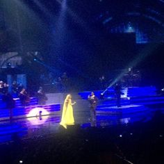 Celine Dion performed on Tuesday at The Colosseum at Caesars Palace