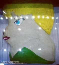 No, THIS is Tinker Hell. | 21 Horrifying And Terrifying Disney Cake Fails
