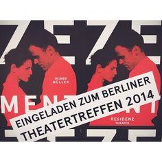 """Eingeladen zum Berliner Theatertreffen 2014: Dimiter Gotscheffs Inszenierung von """"Zement"""" #Zement #Berlin #Theatertreffen #Residenztheater #Resi #Muenchen #munich"""