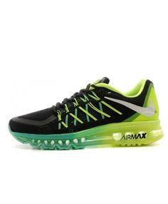 outlet store 12ad5 71930 Homme Nike Air Max 2015 Vert Noir Bleu Chaussures