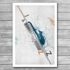 """Jazz Festival Poster From """"Jazz Posters"""" interior prints collection. Interior Art, Illustration, Jazz Piano, Jazz Poster, Poster Art, Bird Prints, Festival Posters, Prints, Music Illustration"""