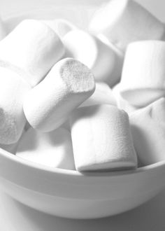 White on white marshmallows Malvaviscos.