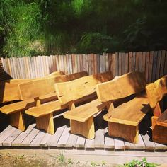 Lots of chairs. 12 to be exact. Cheer, Outdoor Furniture, Texture, Wood, Crafts, Instagram, Design, Surface Finish, Humor