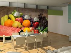 Kitchen Wall MURAL Fruits & Vegetables WALLPAPER Photo POSTER Wall ART Decor  #Unbranded