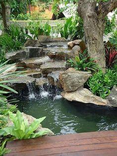 Stunning 80 Beautiful Backyard Ponds and Waterfalls Garden Ideas https://crowdecor.com/80-beautiful-backyard-ponds-waterfalls-garden-ideas/