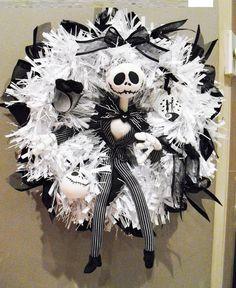 #Jack #Skellington #Sally #wreath # white # black # Jack #toy #baubles #Nightmare before #Christmas #decoration http://www.ebay.co.uk/itm/181949756177?ssPageName=STRK:MESELX:IT&_trksid=p3984.m1555.l2649