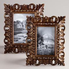 One of my favorite discoveries at WorldMarket.com: Brown and Gold Chandra Carved Frames