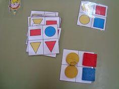 Tarjetas de atención: Tienen que fijarse en cómo están colocados los bloques lógicos, la situación especial, el color  y ellos colocarlos  de la misma manera en una tarjeta en blanco.